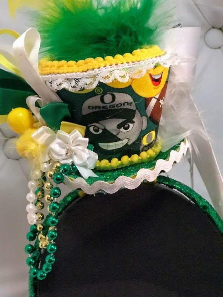 University of Oregon Ducks Emoji Mini Top Hat Fascinator Handmade Headband #Handmade #SportsEvents