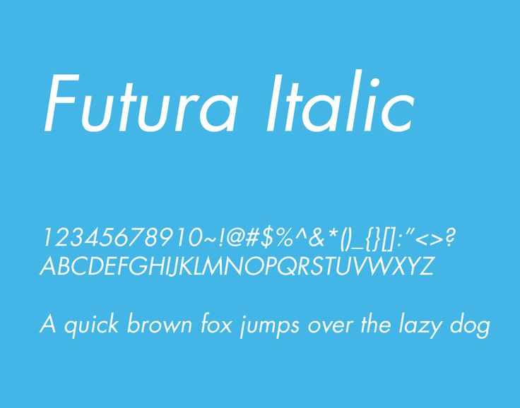 Futura Italic Font Free Download