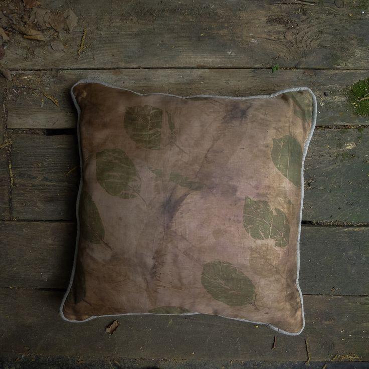 Salix Leaves Print Cushion