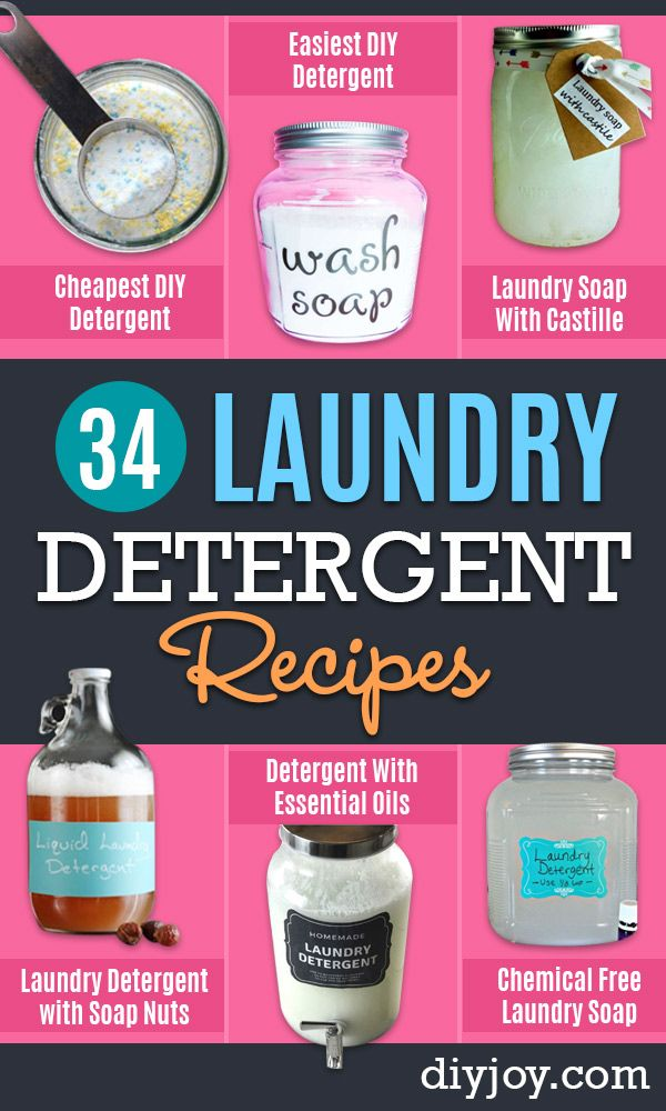 34 Diy Laundry Detergent Recipes Detergent Recipe Diy Laundry