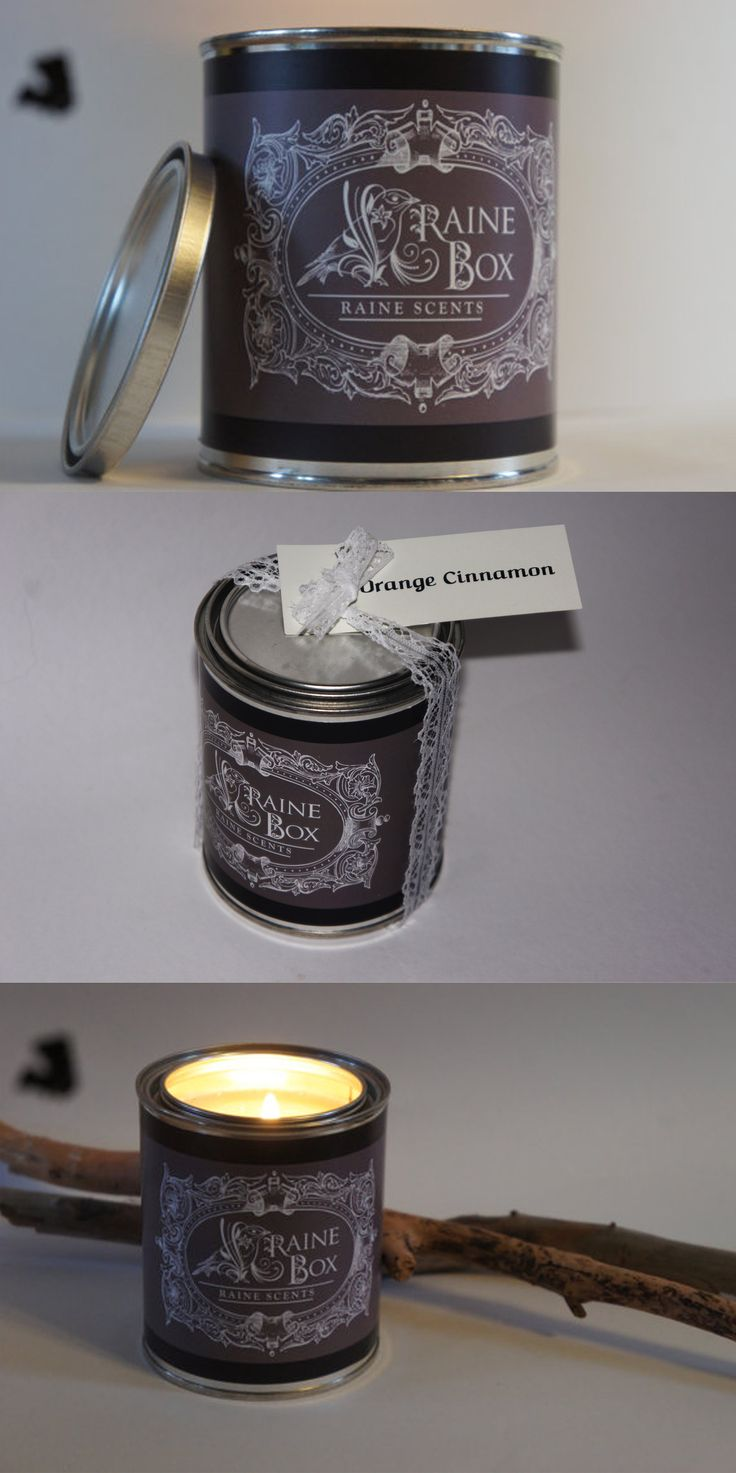 Our costumer, Raine Box, filled their beautiful scented candles in our tin cans! #Packaging #Labels #Candles