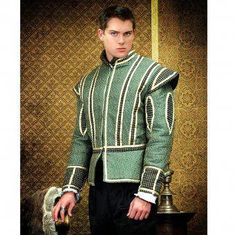 Zelený brokátový Dublet Jindřich VIII