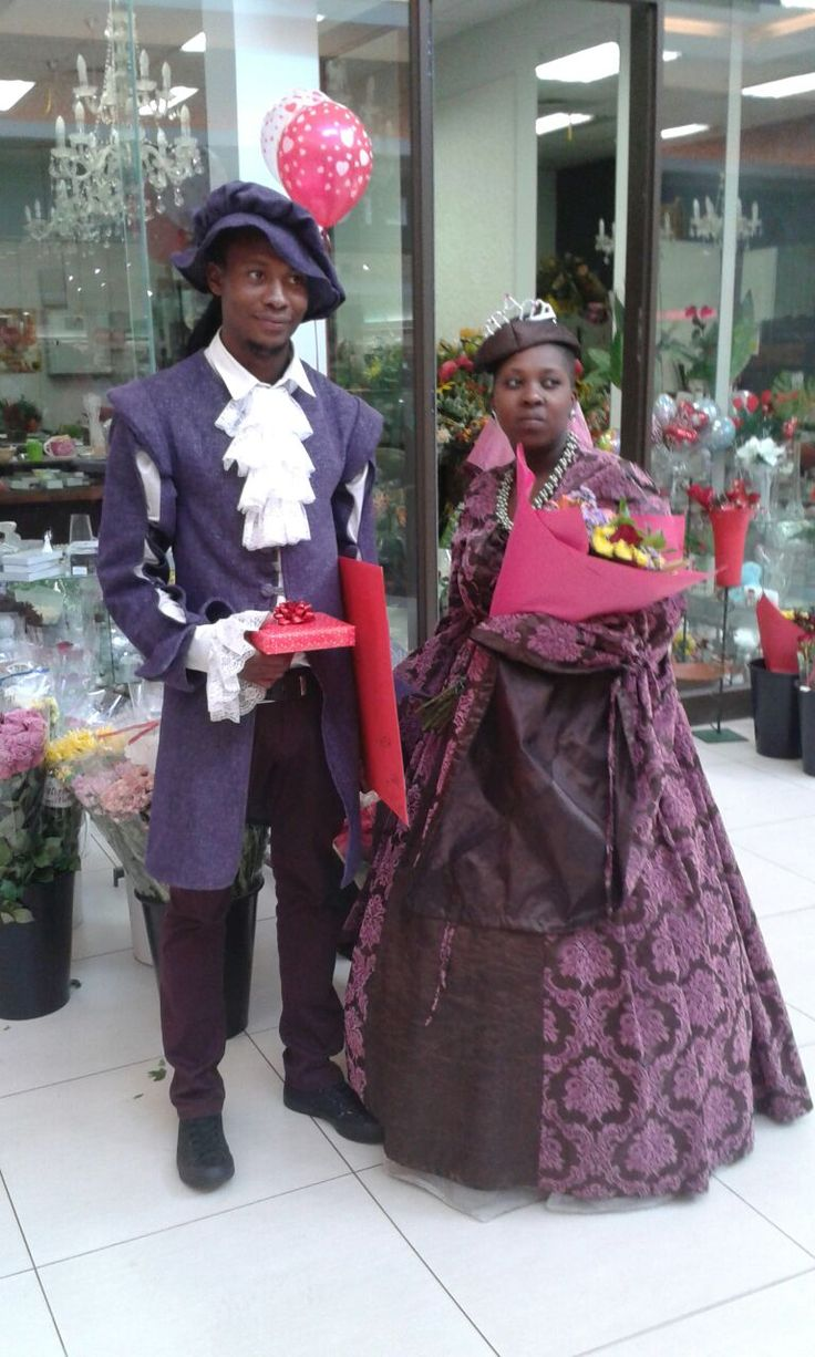 Beautifully dressed Valentine's Day couple visited Azalea Florist for their Valentine's gifts - 2015.