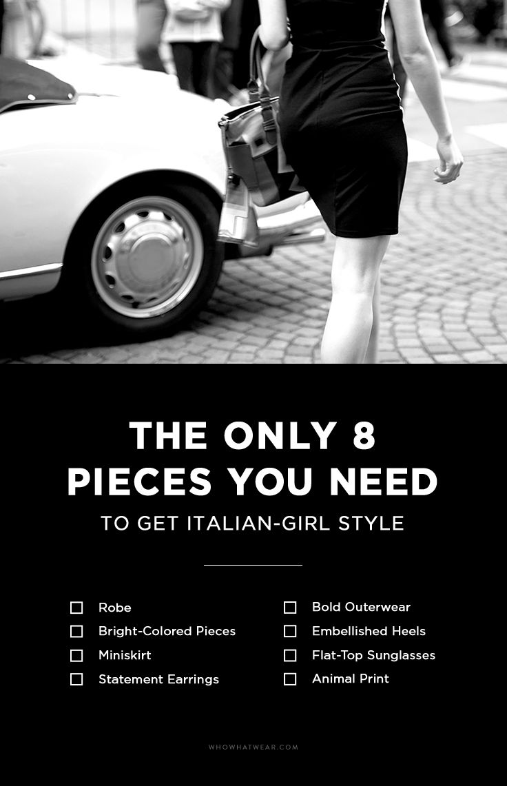 487755759578 The 8-Piece Wardrobe That Defines Italian-Girl Fashion - Who What Wear