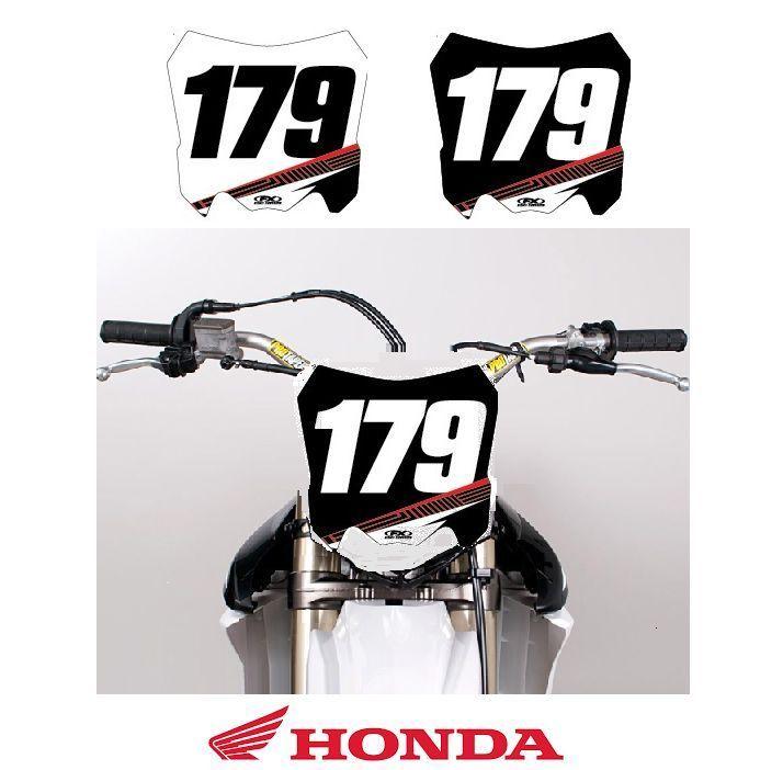 Fx Apex Custom Mx Front Number Plate For Honda Motocross W Your Name