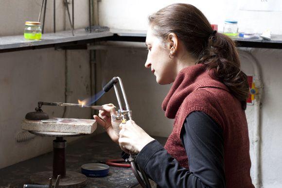 Naomi Muirhead makes vintage silver pieces