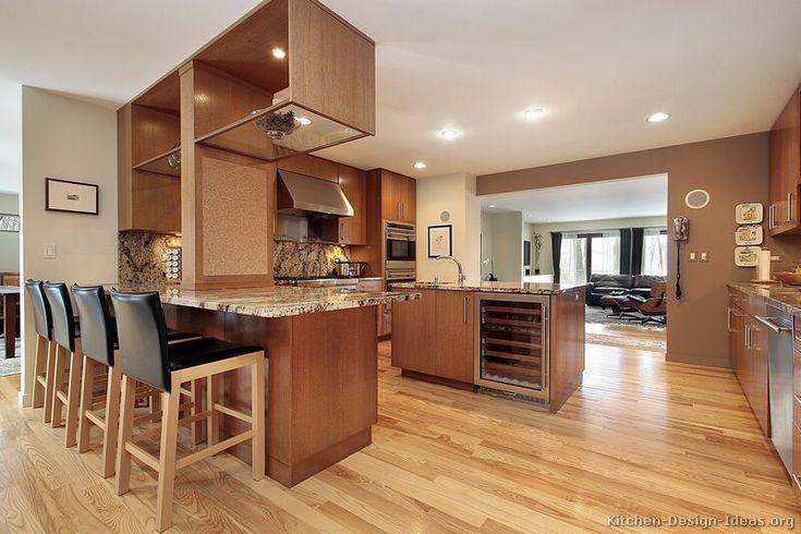 Modern Medium Wood Kitchen Cabinets 37 Kitchen Design