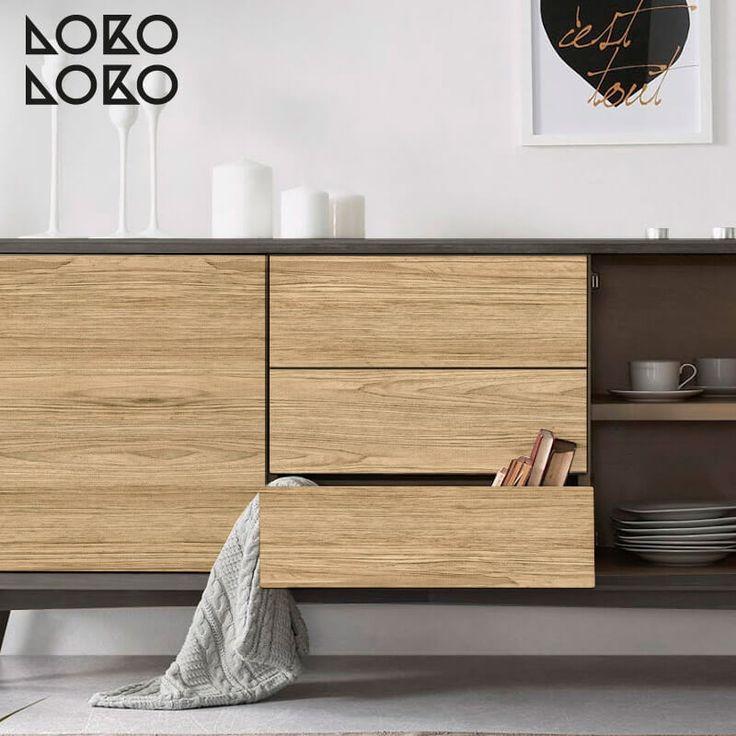Madera natural vinilo para muebles paredes y suelos - Muebles madera natural ...