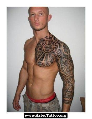 Sleeve Aztec Tattoo 08 - http://aztectattoo.org/sleeve-aztec-tattoo-08/