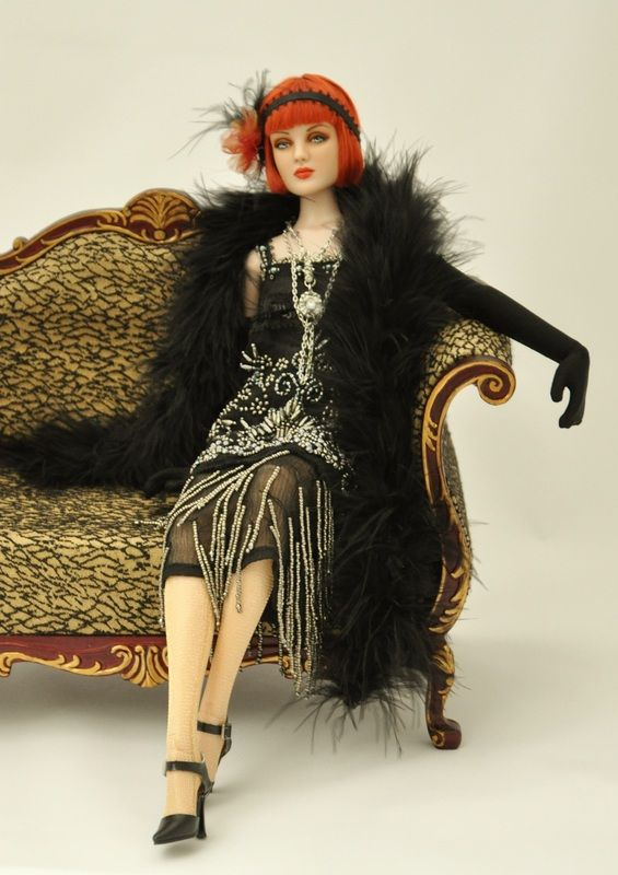 Scarlett - A former Antoinette Hypnotic, repainted and styled into a 1920s flapper by Bibarina