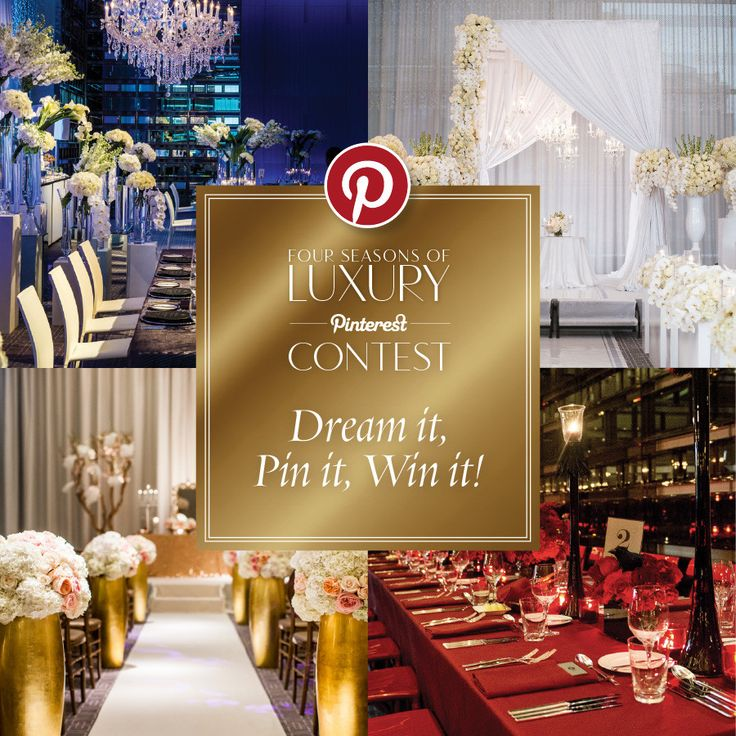 Create your dream Four Seasons wedding Pinterest board and you could win a chance to stay at the Four Seasons Hotel Toronto!* Please see contest details below: 1) Follow both WedLuxe (@wedluxe) and Four Seasons Hotel Toronto...