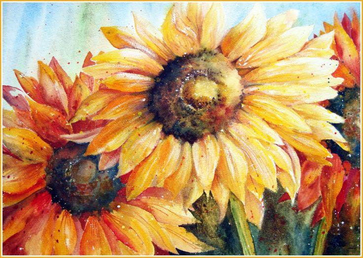 Watercolour Florals: July 2013