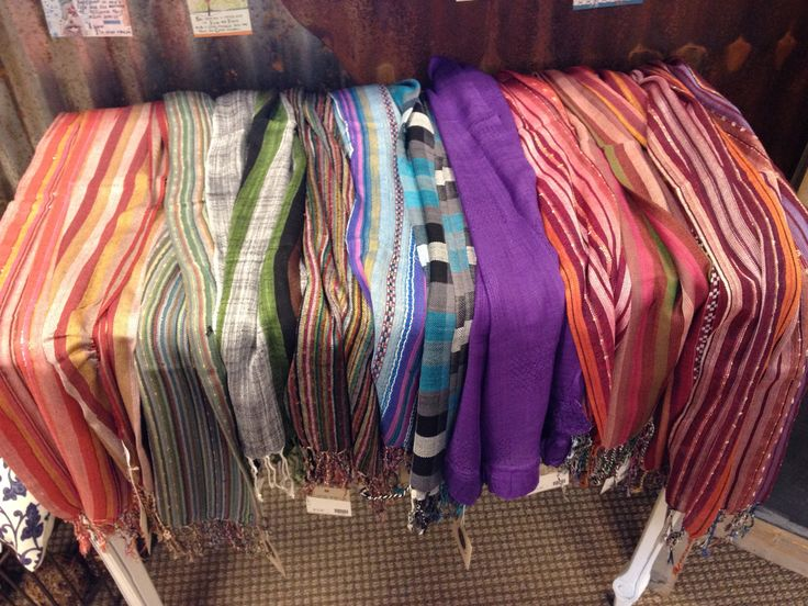 Hand made scarves from various textiles.  Gorgeous and price affordably.
