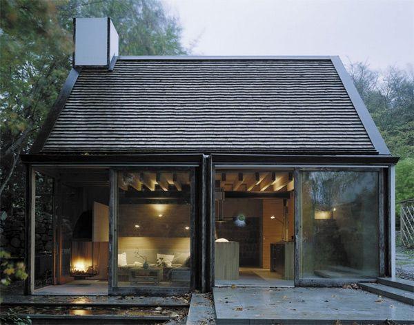 Schwedische Haus Design   Die Terrasse mit großem Esstisch