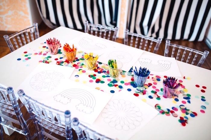 Color Me Happy Art Party For Kids Kara S Party Ideas Art Birthday Party Art Party Fundraiser Party