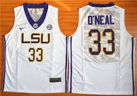 LSU Tigers #33 Shaquille O'Neal White Basketball Stitched NCAA Jersey