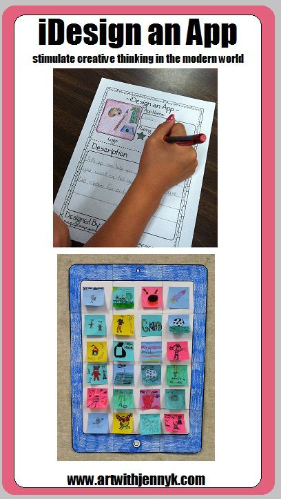 """Students design their own """"app"""" and then add it to the classroom iPad! This is an easy and really fun way to integrate art into your curriculum."""