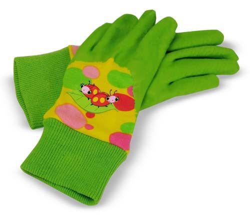 Melissa & Doug Mollie & Bollie Ladybug Kid's Gardening Gloves