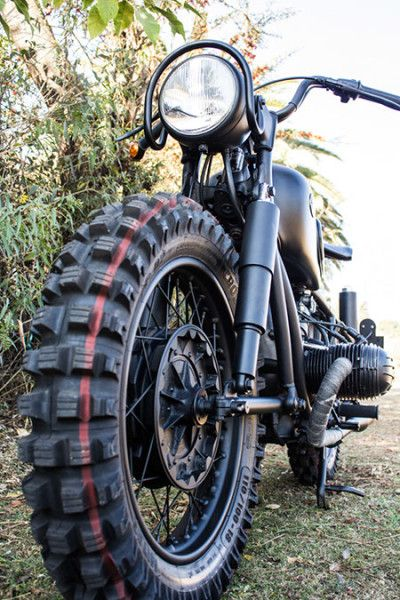 BMW R50 500cc boxer, and yes these are the motocross tires I want!