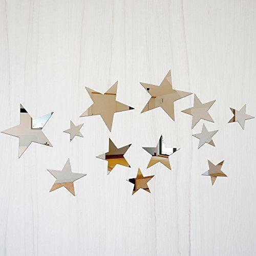 星型】ミラー ウォール ステッカー…」の商品情報 | RoomClip(ルーム ... 【星型】ミラー ウォール ステッカー 割れない鏡 [ミラー] ・安全 フィルム・シールタイプ スペースミラー 全10種類 日本語説明書付き (星型)