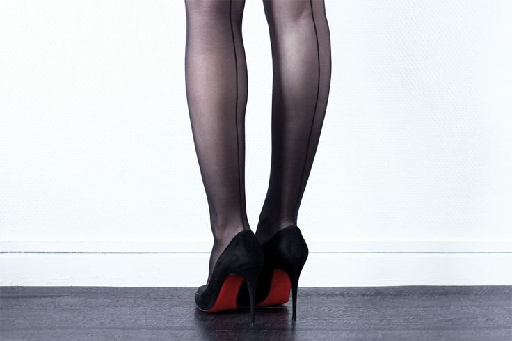 Wolford tights Christian Louboutin heels \u003d\u0026gt; www.the-black-feather ...