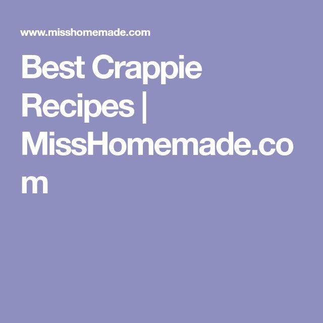 Best Crappie Recipes | MissHomemade.com