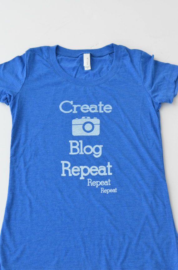Blogger Life Tee, Medium - A short sleeve fitted graphic tee perfect for the mom blogger, food blogger, fashion blogger, craft blogger, lifestyle blogger