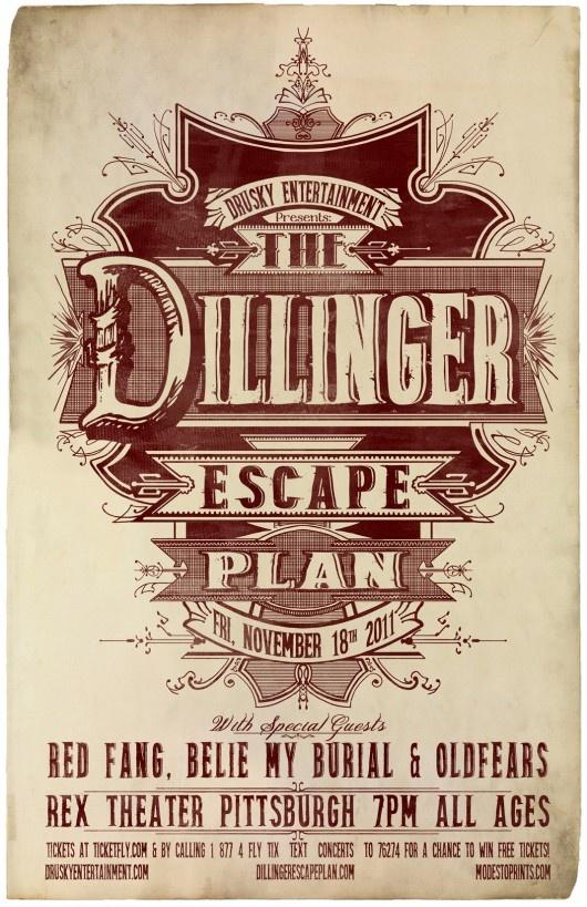 Dillinger Escape Plan poster by MODESTo!