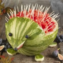 love itKids Parties, Watermelon Hedgehogs, Food, Summer Recipe, Cute Ideas, Summer Parties, Watermelon Carving, Summer Bbq, Parties Ideas
