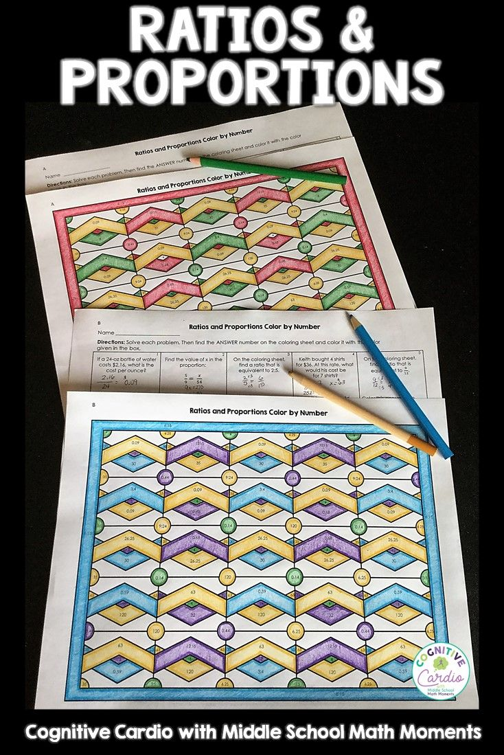 Engaging Self Checking Color By Number To Help Math Students Practice Ratio And Proportion Concepts Mat Ratios And Proportions Proportion Math Math Coloring [ 1099 x 734 Pixel ]