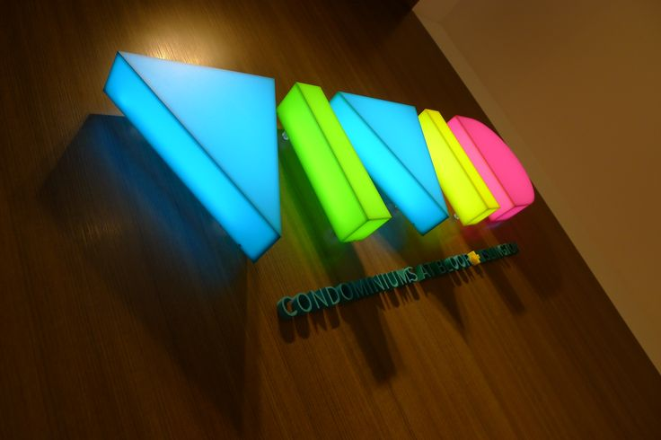 """VIVID condominium, formed translucent acrylic with vinyl translucent film faces and return 2"""" deep with internally lighted with led lights #artsigns #signage #sign design#3d letters#sign company"""