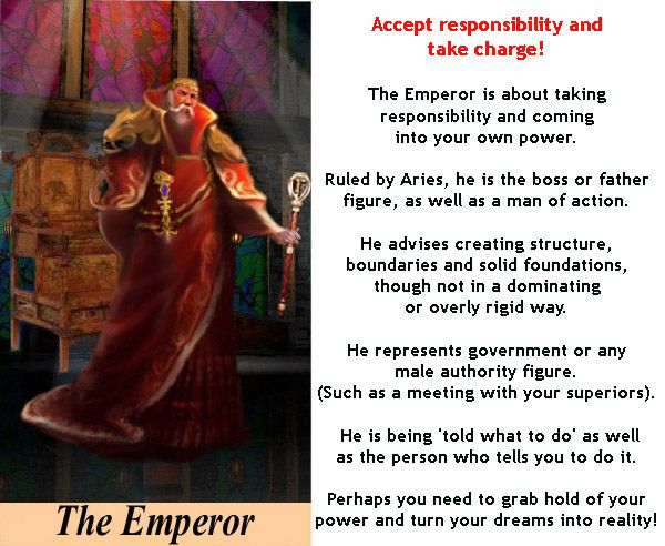 THE EMPEROR #tarotcardmeaning