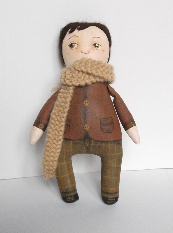 Georges mini art doll by MademoiselleG on Etsy