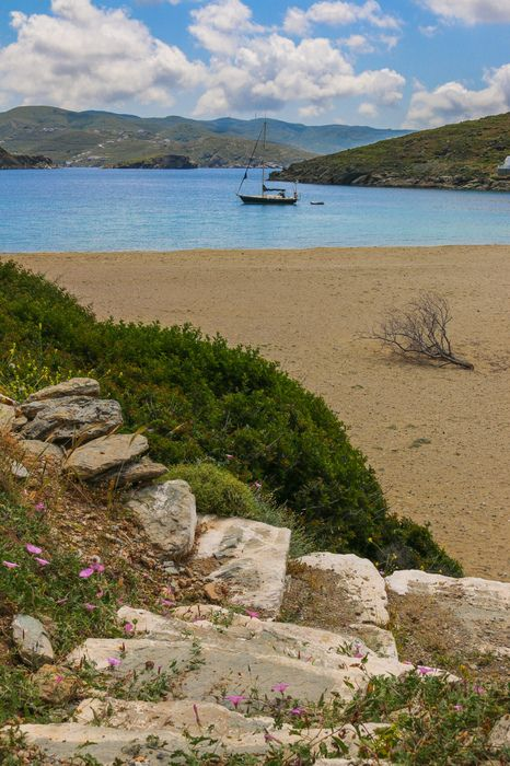 The beautiful beach on #Kythnos, #Greece - an underrated gem of the Greek Islands. via Travel With Bender