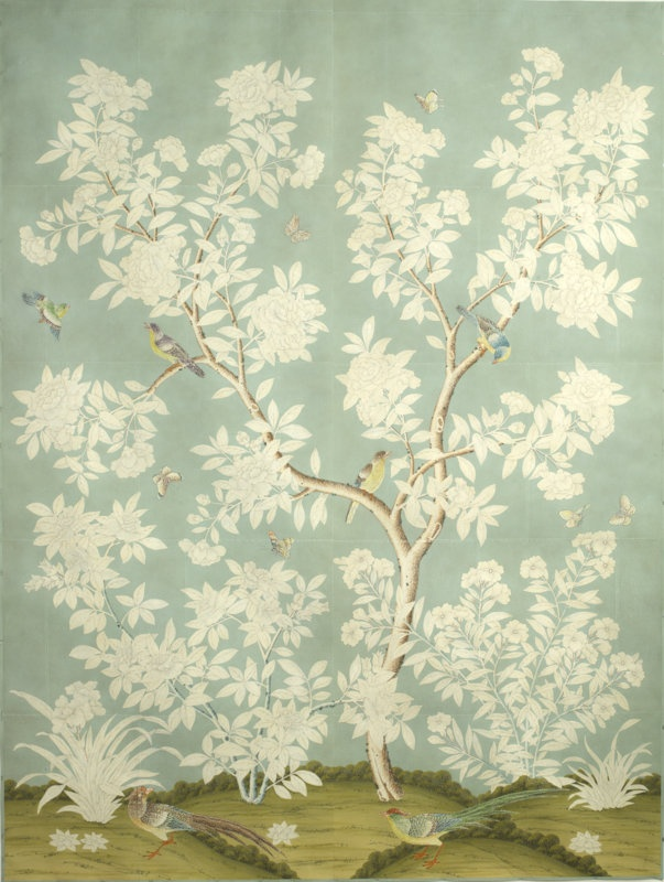 Scenic Gracie Wallpaper Is Hand Painted