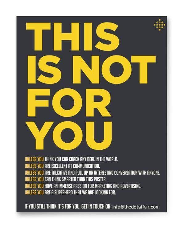 Recruitment Poster Advertising
