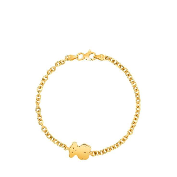 Złota bransoletka Tous Bear