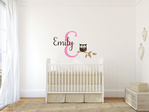 Baby Wall Monogram Owl Vinyl Decal: A portion of every purchase through this link supports charity.