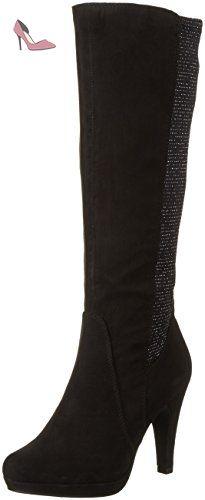 Marco Tozzi 25503 - Bottes Hautes Femme - Noir (Black Comb 098) - 39 EU - Chaussures marco tozzi (*Partner-Link)