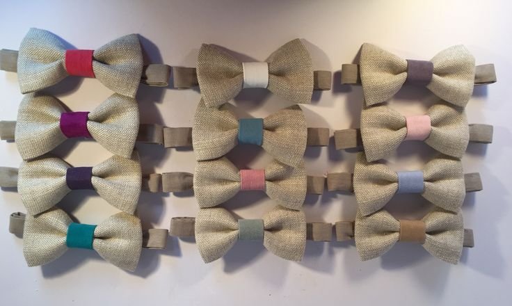 Vintage linen bow ties now in stock from The Rural Skipper. Ideal to wear with colour contrasting boutonnières for grooms and ushers.