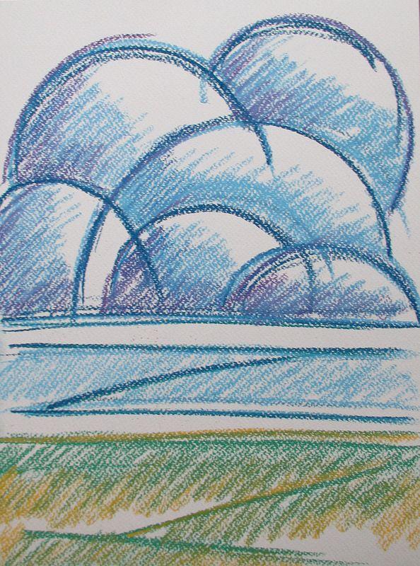 Rain clouds #art #drawing #helsinki #summer #abstract #rain #cloud #nature #finland