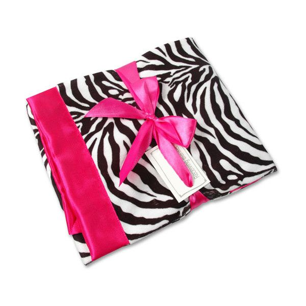 Hot Pink Zebra Baby Blanket ($40) ❤ liked on Polyvore featuring baby, baby stuff, baby blankets, baby girl and bedding