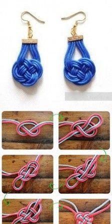 DIY chineese knoop oorbellen