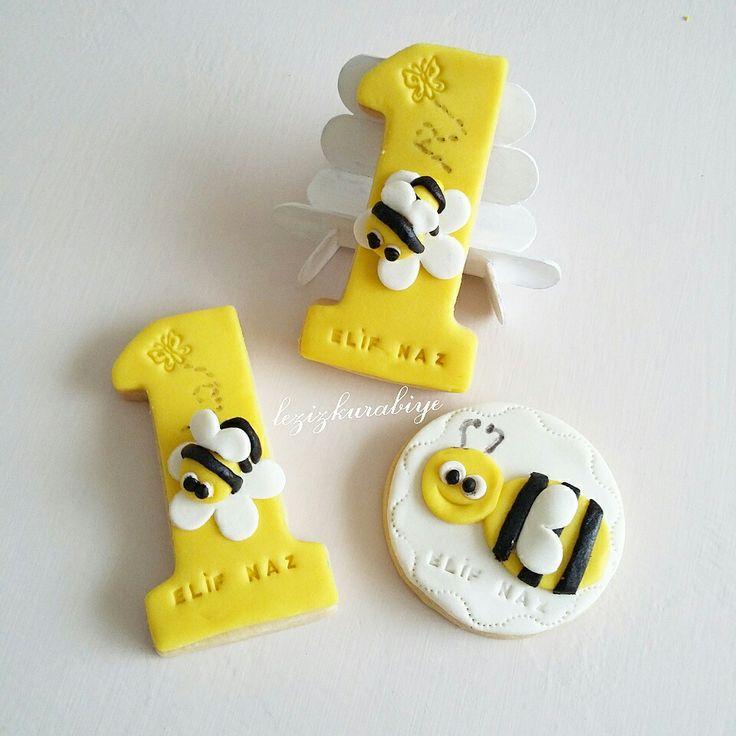 Arı konsept 1 yaş kurabiyesi