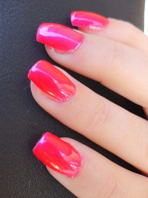 Hot pink nail polish super glossy nail polish nail trends ...