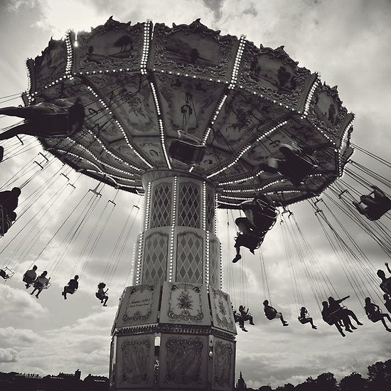 Just for Fun - Taken at The Tivoli Amusement Park, Stockholm, Sweden #photography #blackandwhite #homedecor #suse #arttoheartphotography