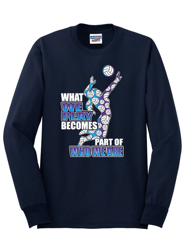 Navy Long Sleeve T-Shirt 50% Cotton/ 50% Polyester Dri-Power Active Front print design Images are representations of the actual product Adu | Midwest Volleyball Warehouse