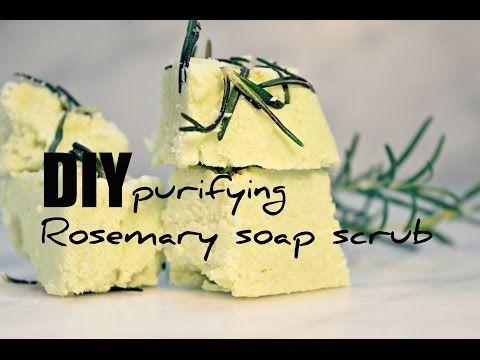 DIY purifying soap scrub, sapone scrub al rosmarino! - YouTube