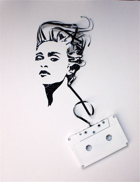 """Erika Iris Simmons, """"Madonna"""", Cassette Tape, from the """"Ghost in the Machine"""" collection, 2010"""