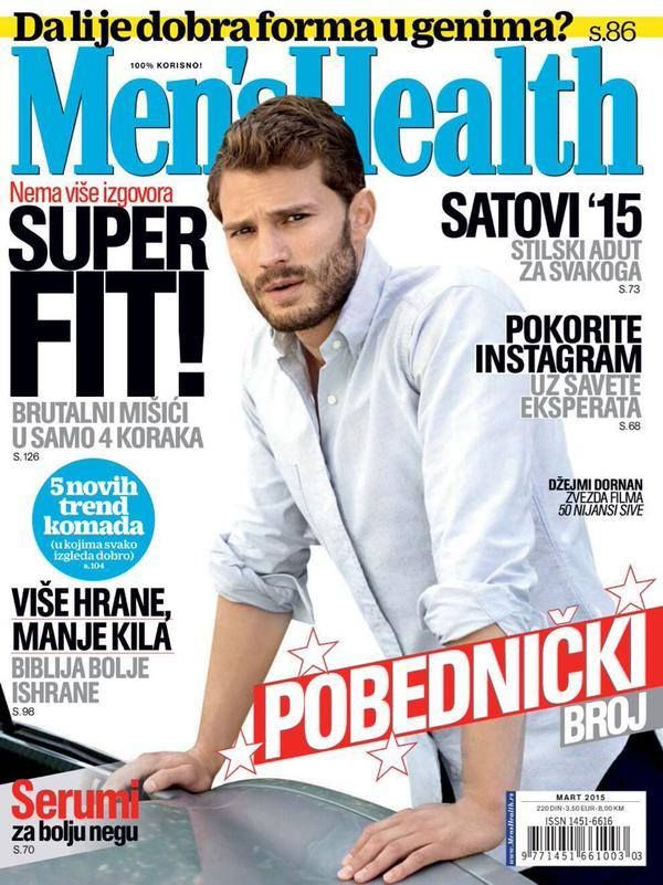 Jamie Dornan on The Cover of Men's Health Magazine ( Serbia ) - Quotes, Scenes,Video,Soundtrack,Christian Grey - Fifty Shades Darker Movie